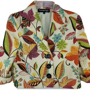 Painted Pony Women's Small Tapestry Jacket floral